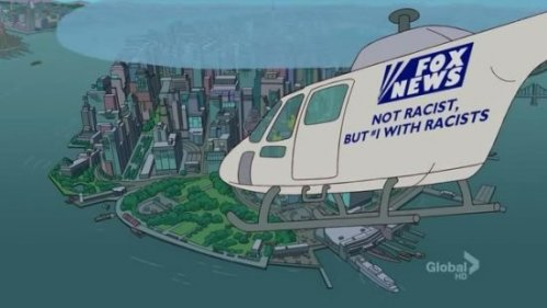 Simpsons, helicopter, racist
