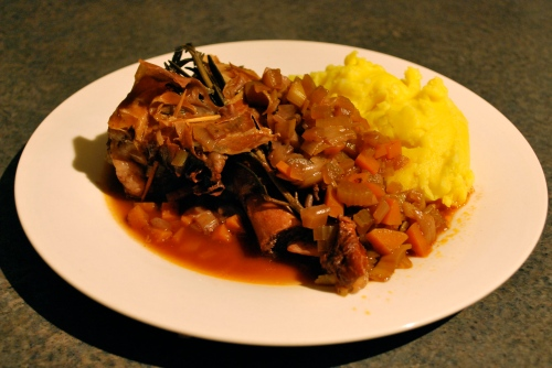 Slow cooker lamb shank